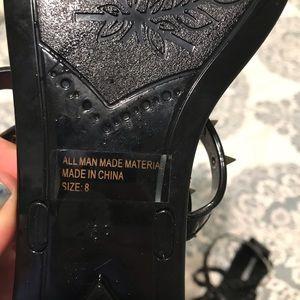 Steve Madden Shoes - Steve Madden spiked black jelly strappy sandal